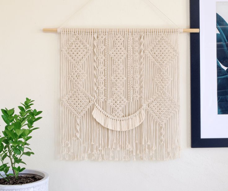 Margot | One of a kind handmade Macramé wall hanging by Macramé Mons. One piece revealed each fortnight on a Monday ✖️