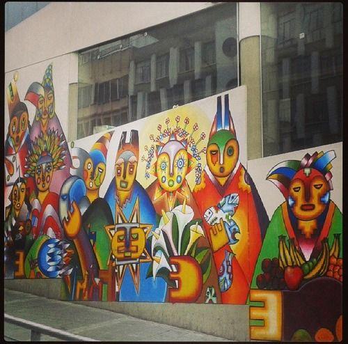 Mamani Mamani street art - La Paz/Bolivia
