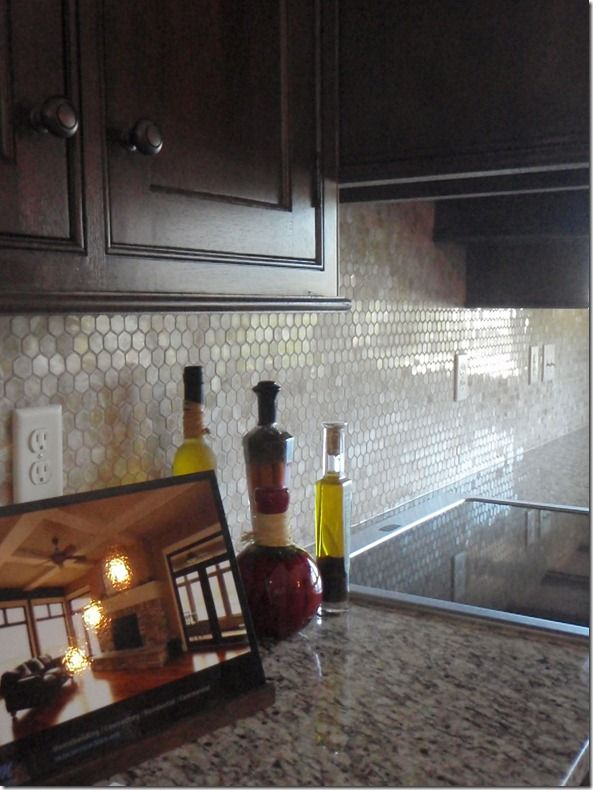 17 best images about bamboo glass tiles on pinterest for Kitchen penny backsplash