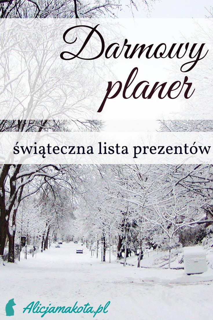 Free printable planner - christmas gift | Bożonarodzeniowy planner - lista prezentów