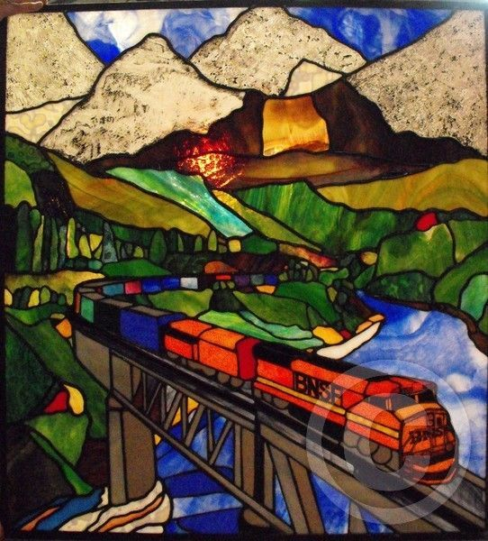1419 Best Stained Glass Paysages Images On Pinterest