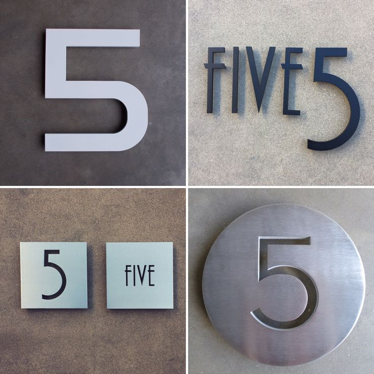 132 best modern house numbers images on pinterest for Modern house number plaques