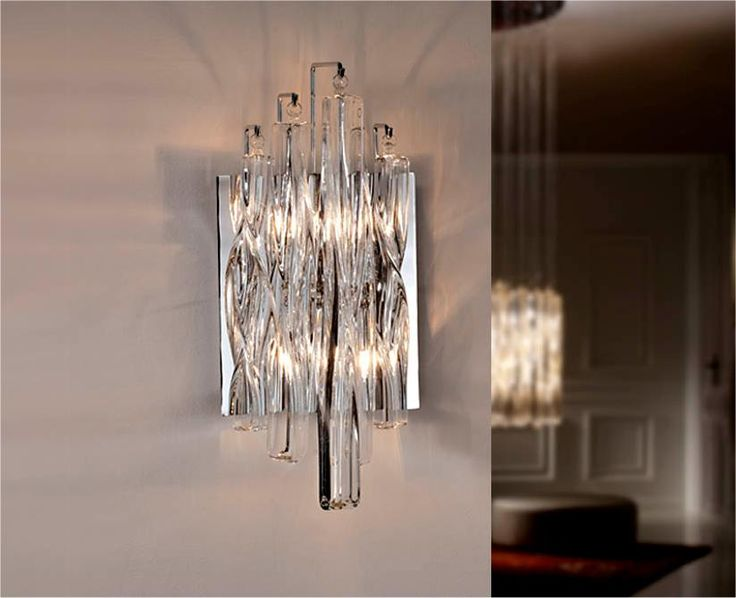 Crystal Wall Lights Argos : Swirl Glass Wall Light Wall Lights with Arms, Shades, Glass and Bling! Pinterest