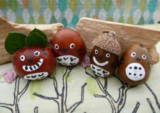 Conker and acorn animals