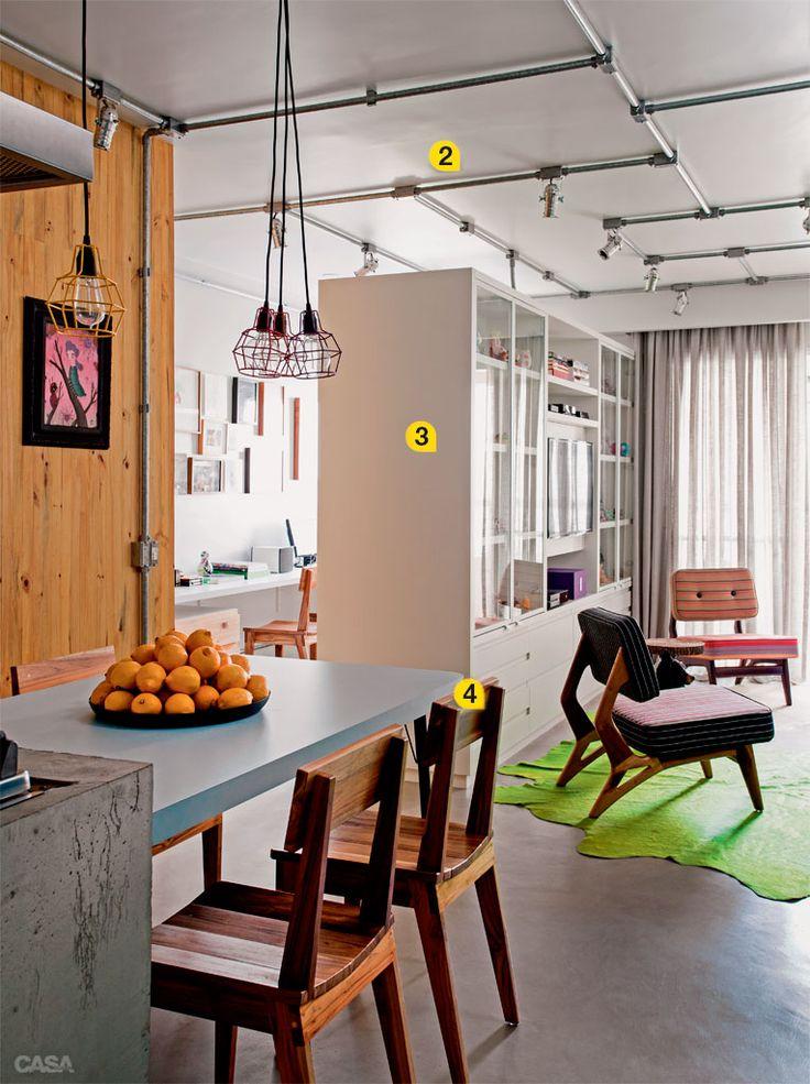 10 boas ideias para fazer o espaço render num apartamento de 72 m2 - Casa