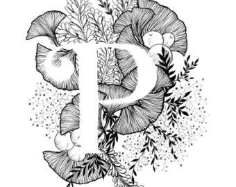 Imprimir letra M alfabeto caligrafía tipografía por archsehgal
