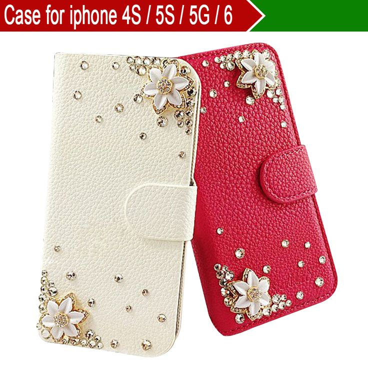 Чехол для iphone 6 для iphone 5S / 5 G для iphone 4S, для iphone 6 ( 4,7 дюймов ), дрель цветок красный белый телефон защитный чехол для iphone 4S / 5S / 5 G сумки и футляры