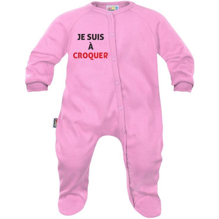 Pyjama bébé original : je suis à CROQUER