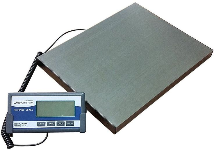 400lb Stainless Steel Digital Shipping Scale With Remote #scale