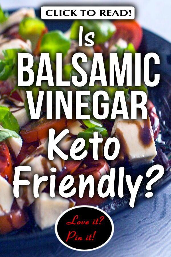 keto diet and balsamic vinegar