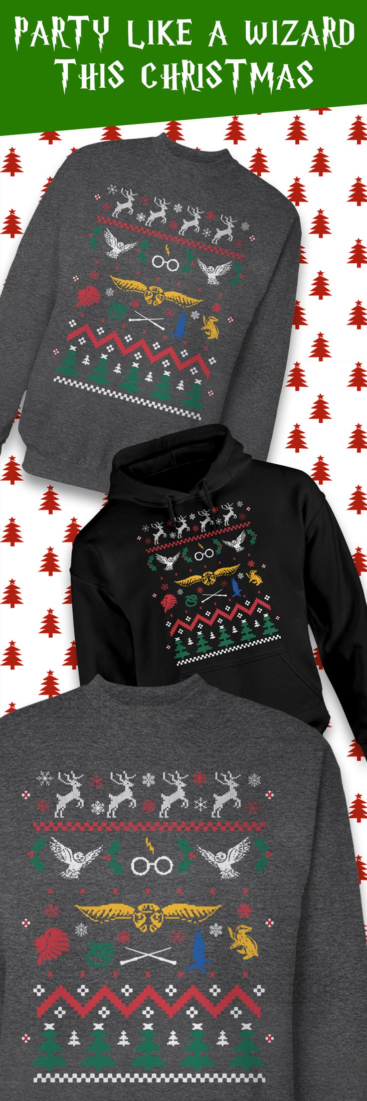 Whether you're headed to a holiday party or a funny Ugly Christmas Sweater gathering, this limited edition Harry Potter sweater will have you looking stylish while showing you're a true fan. The holiday season goes by quickly, so grab one for yourself or as a gift before it's too late!