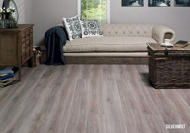 Heartridge Laminate Flooring in Smoked Oak, Silvermist