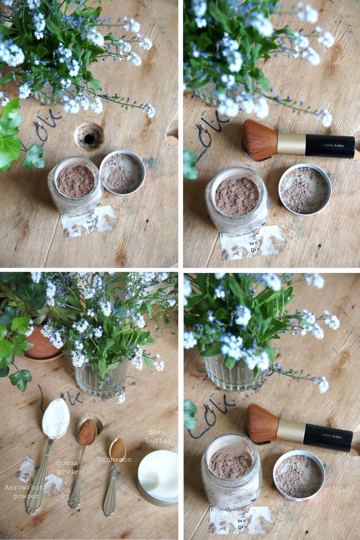 How To Make Zero Waste Foundation Powder - Team Golden Spa http://goldenspa.com.au/ (Using arrowroot powder/cornstarch, cocoa powder/cinnamon/nutmeg, Shea butter)