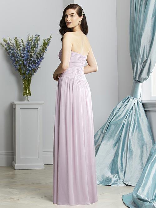 Balletts Bridal - 22215 - Bridesmaids by Dessy - Dessy BM 2931 - Full length strapless sweetheart neckline crossover draped bodice shirred skirt