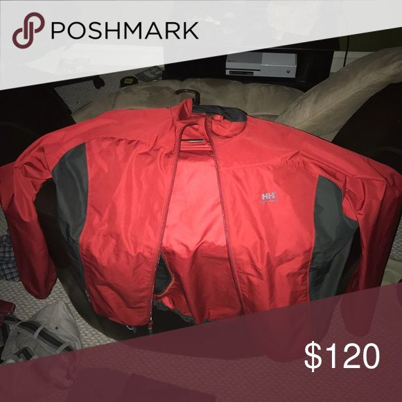 Red helly hansen worn once Very nice and comfortable. Helly Hansen Jackets & Coats Lightweight & Shirt Jackets
