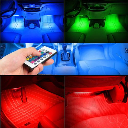 Awesome Remote music voice control led neon car interior decorate atmosphere light