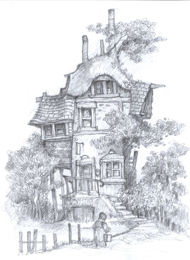Mythwood - The Art of Larry MacDougall: The Belle Flower Inn