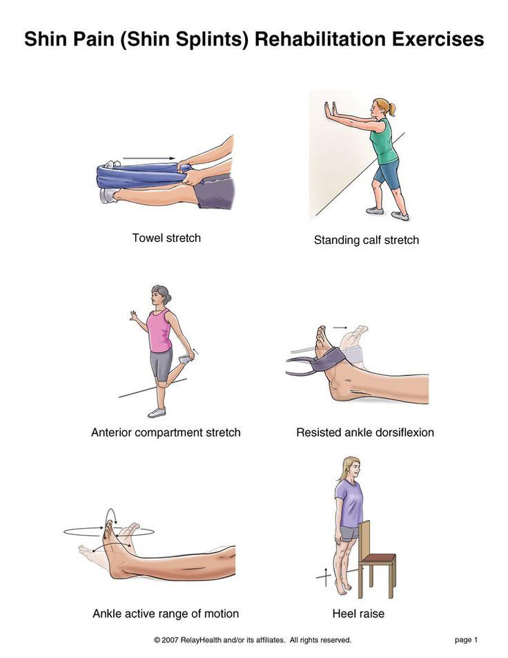Shin splint rehab exercises