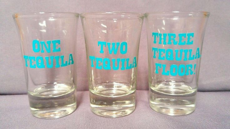 Set Of Three Funny Tequila Shot Glasses Birthday Present Christmas Gift