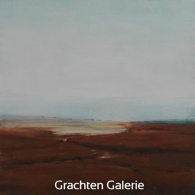 Z.t. 15   Andre Hoppzak   Schilderij   Painting   Kunst   Art   Grijs   Grey   Bruin   Brown    Wit   White   Grachten Galerie