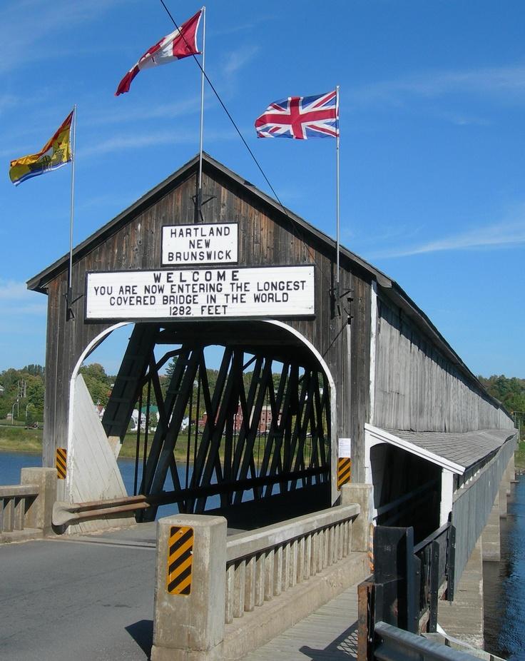 Longest Covered Wooden Bridge in the World: Hartland Bridge in New Brunswick, Canada