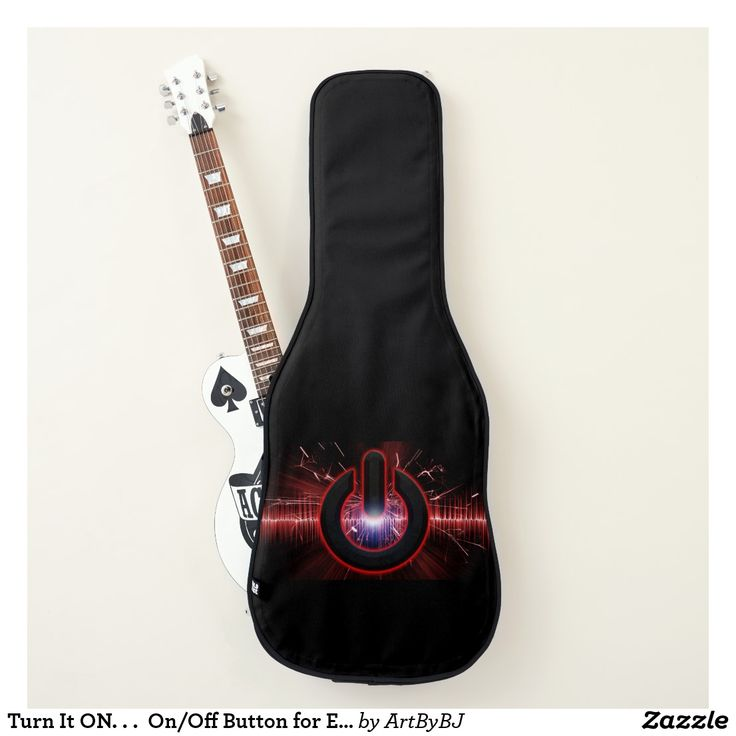 Turn It ON. . .  On/Off Button for Electric Guitar Case.. . Give your guitar player the power with this great Birthday Present or Christmas Gift.