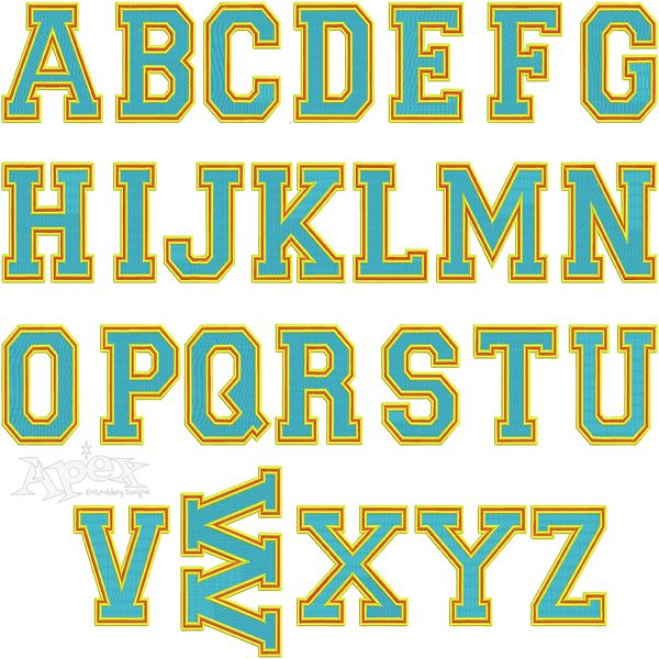 Best Block Embroidery Fonts Images On   Embroidery