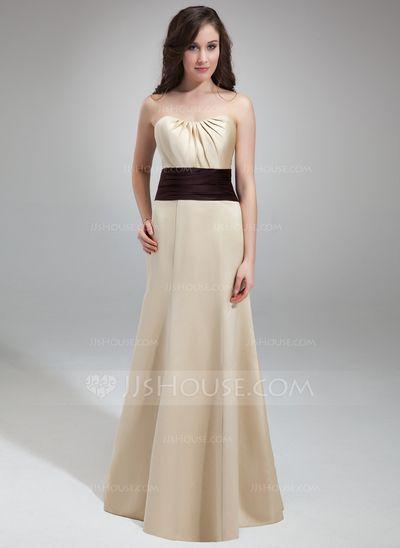 Bridesmaid Dresses - $106.99 - Trumpet/Mermaid Sweetheart Floor-Length Satin Bridesmaid Dress With Ruffle Sash Beading (007000893) http://jjshouse.com/Trumpet-Mermaid-Sweetheart-Floor-Length-Satin-Bridesmaid-Dress-With-Ruffle-Sash-Beading-007000893-g893?ver=0wdkv5eh