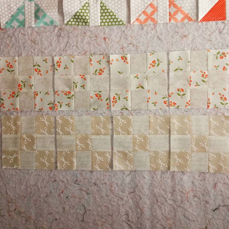 Fig Tree Quilts Cream Sparkle 2017/2018 BOM   June - 1st block ✔  Keeping my fingers crossed to stay caught up. 😀  @figtreequilts #figtreeandco #figtreequilts #creamsparklebom2017