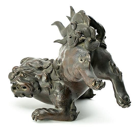 Buy online, view images and see past prices for 19th Century Japanese school Fo dog A black patinated bronze sculpture. Invaluable is the world's largest marketplace for art, antiques, and collectibles.