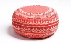 The Frank pouffe by Donna Wilson is handmade in the UK using sustainable materials. Each is made to order and upholstered in knitted lambs wool from Scotland.