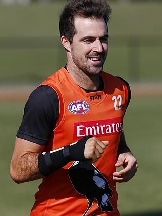 Steele Sidebottom at Collingwood training. Picture: Michael Klein