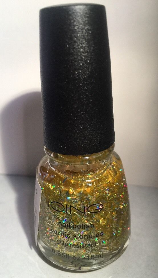 ICING Nail Polish Lacquer Sunlit HOLOGRAPHIC Gold MICRO GLITTER New! 0.65fl Oz  | eBay