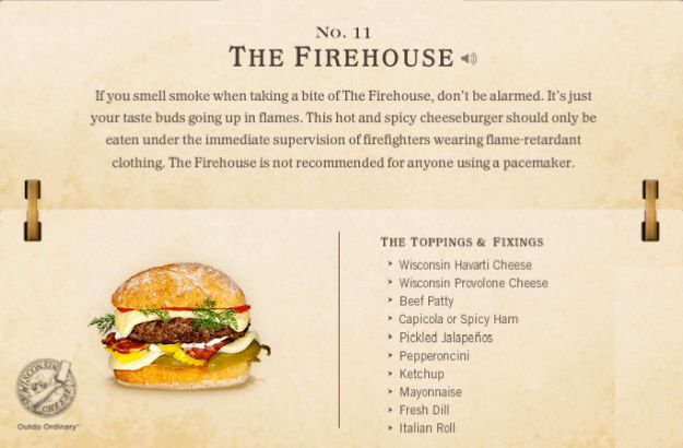 11. The Firehouse Cheeseburger Recipe | 40 Mouth-Watering American Hamburger Recipes Everyone Loves