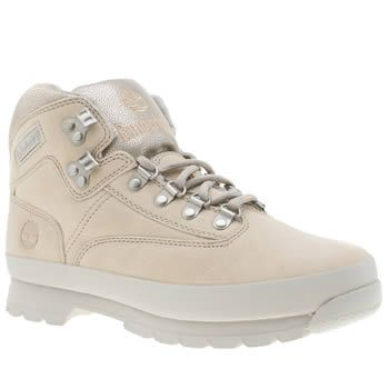 Timberland Pale Pink Euro Hiker Womens Boots Whether youre out urban exploring or through a more rocky terrain, the Timberland Euro Hiker has got your back. Arriving in pale pink nubuck, the durable upper is joined with silver D-ring lacing and  http://www.MightGet.com/january-2017-13/timberland-pale-pink-euro-hiker-womens-boots.asp