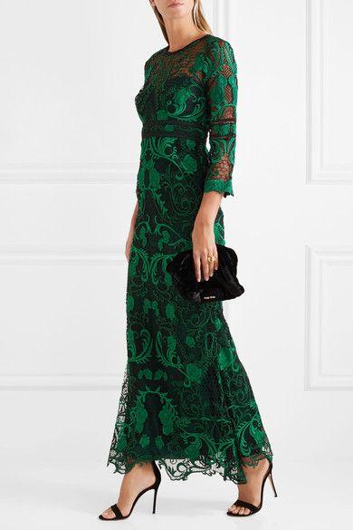 Marchesa Notte | Guipure lace gown | NET-A-PORTER.COM