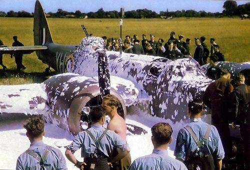 Blenheim crash. RAF Watton 1941.