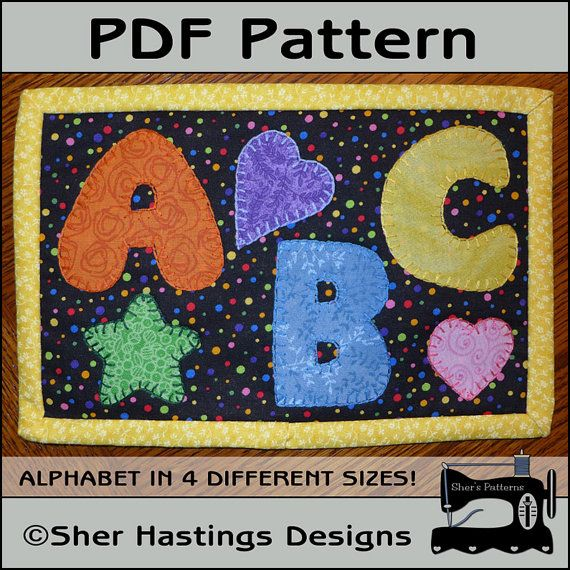 PDF Pattern for Chunky Alphabet Mug Rug by ShersPatternShop, $3.00