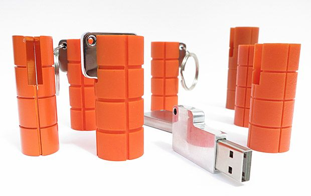 LaCie RuggedKey -- LaCie's Rugged series hard drives are reliable & built for a beating. Now they've shrunken the Rugged down into this little pocket rocket. 16 or 32GB USB 3 models are available featuring construction built to keep your data intact through extreme cold, heat, water, even a 100-meter fall.