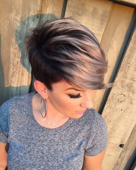 Cute, Short Haircut with Side Bangs - Summer Hairstyles 2016