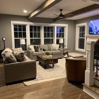 Long Narrow Basement Ideas Basement Living Rooms Basement