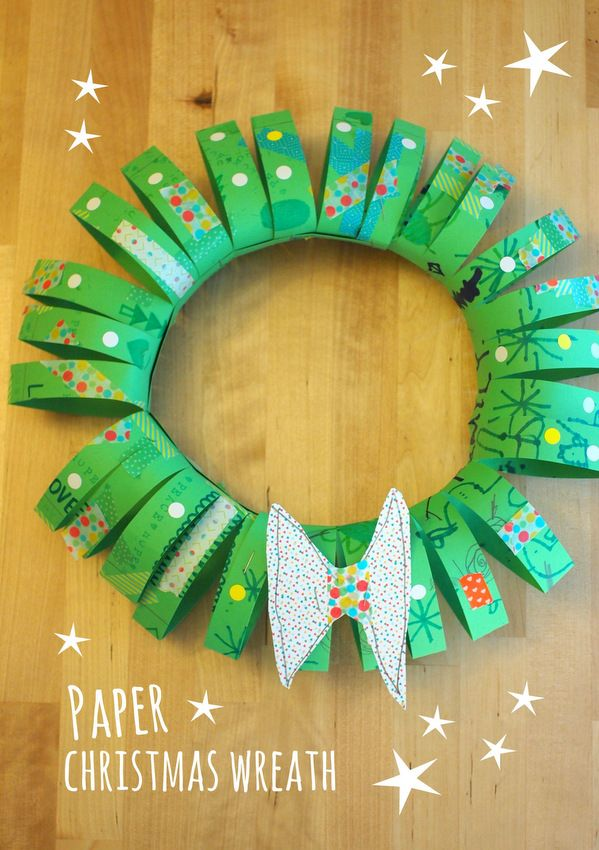3D Paper Tube Christmas Wreath Wreath CraftsPaper