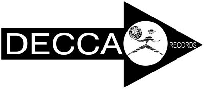 1960s American Decca logo with the harlequin holding a globe