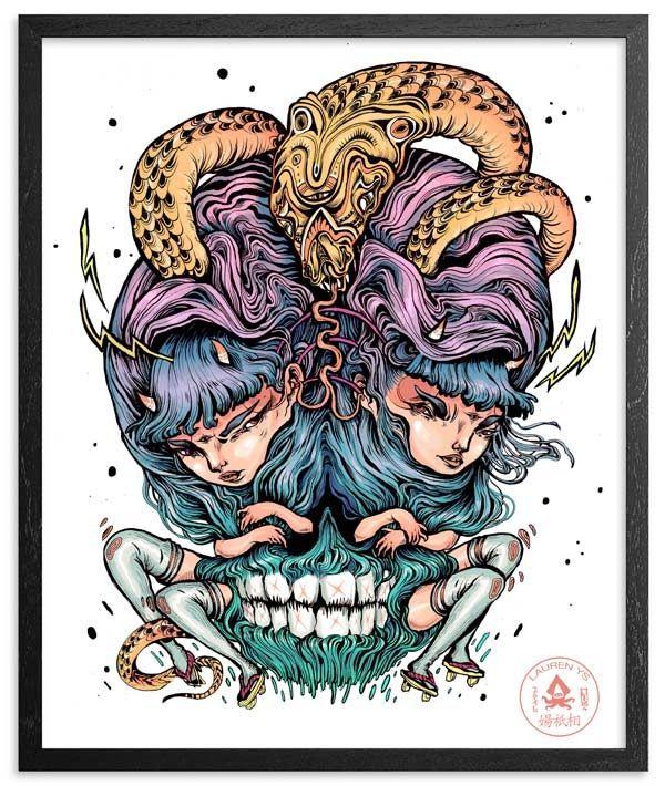 """Image of """"Snake Eyes"""" Print"""