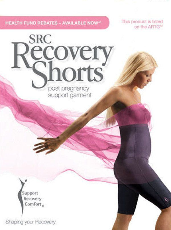 SRC Recovery Postpartum Shorts,  $189.00, are recommended by health care professionals to regain your pre-baby body shape faster. It also reduces pain and offers increased pelvic and back support.