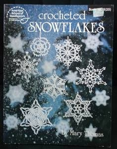 Crocheted Snowflakes pattern booklet. 16 different designs. I had this book and loved it but somehow it got lost.