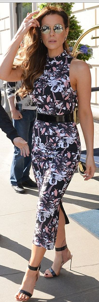 Kate Beckinsale wearing Francesco Russo and Dana Rebecca