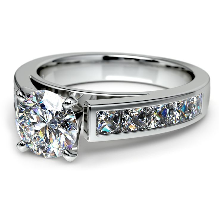 There's no time like the present to give your beloved a gift that symbolizes the promise of Forever. Present her with the sparkling elegance of the Channel Diamond Engagement Ring in Platinum!  http://www.brilliance.com/engagement-rings/princess-channel-diamond-ring-platinum-1-ctw