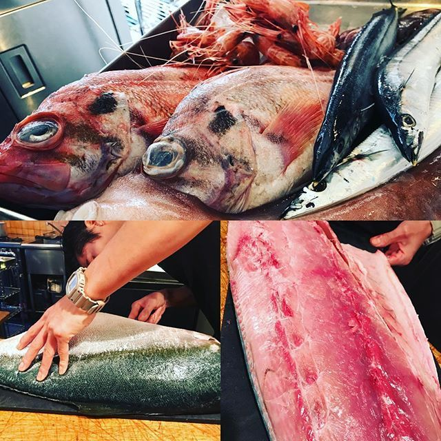 こんにちは! 三連休最終日! 今週も北海道小西鮮魚さんより新鮮な魚介類届きました〜! シマエビ、サンマ、メヌキ 特におススメなのがタツヤ君が捌いてるブリ! いい感じに脂が乗っていて大変美味との事です‼︎ 連休最終日、お魚如何ですか〜? 本日、空き席残り僅かとなってますのでご連絡お待ちしております! #陽気なスタッフ #代官山イタリアン #渋谷イタリアン #肉 #グリル #ワイン #隠れ家 #デートに #パスタ #オステリアウララ #osteriaurara #6年目 #裏代官山 #小西鮮魚店 #ぶり #新鮮魚介