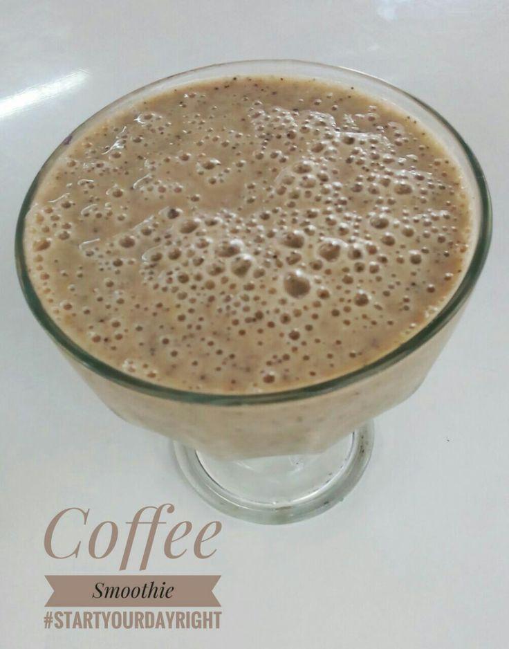 recipe: coffee, oatmeal,  Banana,icecube  blend all